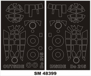 MXSM48399 Montex 1/48 Dornier Do-215B-4 canopy masks (ICM kits)