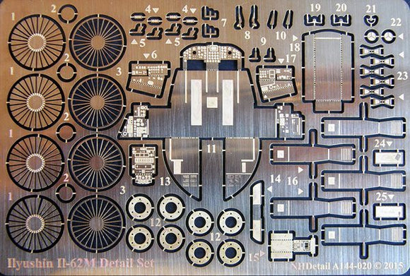 NHA144020 NH Detail 1/144 Ilyushin Il-62M Detail set (ICM14405 kits)