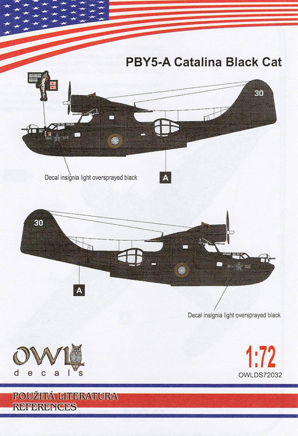 OWLDS72032 OWL 1/72 PBY5-A Catalina Black Cat