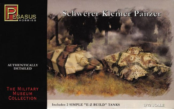 PH7605 Pegasus Hobbies  1/72 German Schwerer Kleiner Panzer (2 e z build per box)