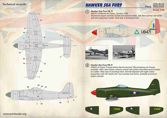 PSL48142 Print Scale 1/48 Hawker Sea Fury Part 2