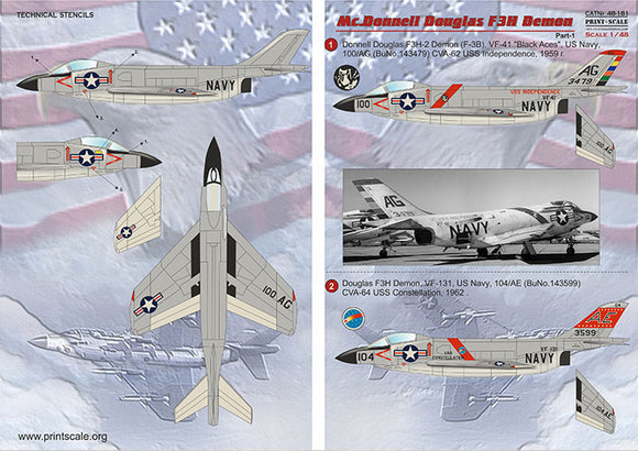 PSL48181 Print Scale 1/48 McDonnell F3H Demon Part-1