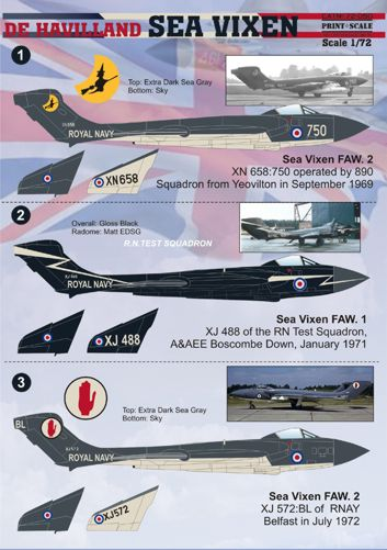 PSL72050 Print Scale 1/72 de Havilland Sea Vixen [de Havilland Sea Vixen FAW.2/D3/FAW.1.]