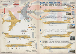 PSL72187 Print Scale 1/72 Handley-Page Victor Double sheet (4)