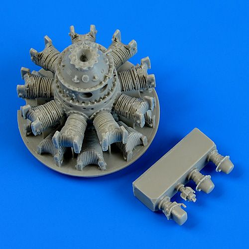 QB48664 Quickboost 1/48 Vought F4U-5 Corsair engine (designed to be used with Hobby Boss kits)