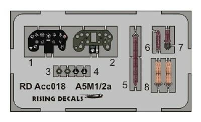 RDACC-018 Rising Decals 1/72 Instrument panel A5M1, A5M2& A5M3 Claude