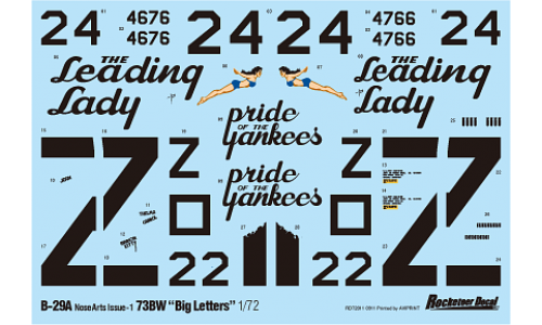 ROCK72011 Rocketeer Decals 1/72 B-29A 73BW