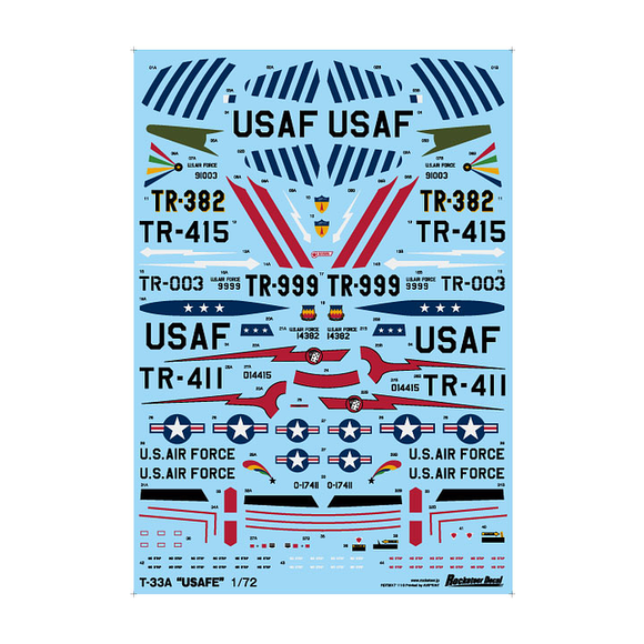 ROCK72017 Rocketeer Decals 1/72 T-33A USAFE