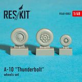 "RS48-0002 ResKit 1/48 Republic A-10A/A-10B/A-10C ""Thunderbolt"" wheels set (designed to used with Hobby Boss, Italeri and Revell kits)"