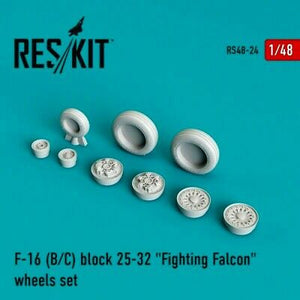 RS48-0024 ResKit 1/48 F-16 (B/C) Block 29-39 Wheels