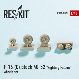 "RS48-0025 ResKit 1/48 Lockheed-Martin F-16C block 40-52 ""Fighting Falcon"" wheels set (designed to used with Academy, Hasegawa, Kinetic and Tamiya kits)"