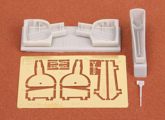 SBS72012 SBS Model 1/72 Bell P-39Q/N Airacobra wheel bays with etched parts (designed to be used with Academy kits) [P-39N P-39Q]