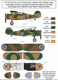 SBSD4808D SBS Model 1/48 Gloster Gladiator Finnish Air Force WWII decal sheet