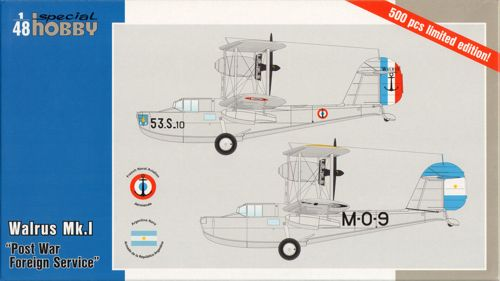 SH48164 Special Hobby 1/48 Supermarine Walrus Mk.I Post War Foreign Service