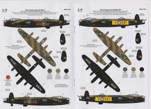 SSM72003 S & M Models 1/72 Poswar Avro Landcaster Collection