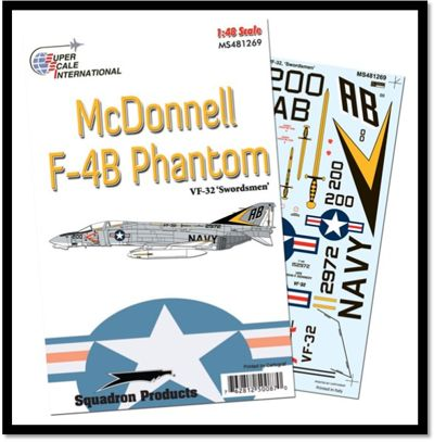 SS481269 Superscale 1/48 Mc Donnell F-4B Phantom