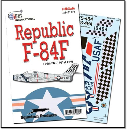 SS481276 Superscale 1/48 Republic F-84-F 614th FBS / 401st FBW