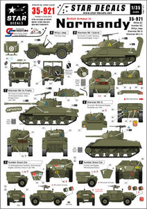 35921 Star Decals 1/35 British Armour in Normandy. White SC, Humber SC, Sherman IIH and III
