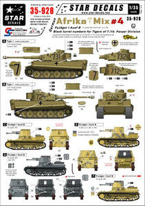35928 Star Decals 1/35 German Afrika Mix #4