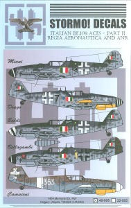 STRM-32002 Stormo Decals 1/32 Italian BF-109 Aces Part II