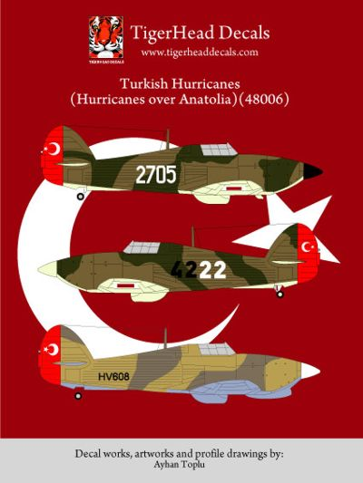 THD48006 Tigerhead Decals 1/48 Turkish Hawker Hurricanes (Hurricanes over Anatolia)