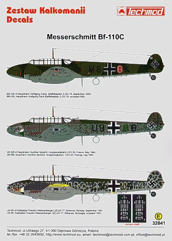 TM32041 Techmod 1/32 Messerschmitt Bf-110C (3)