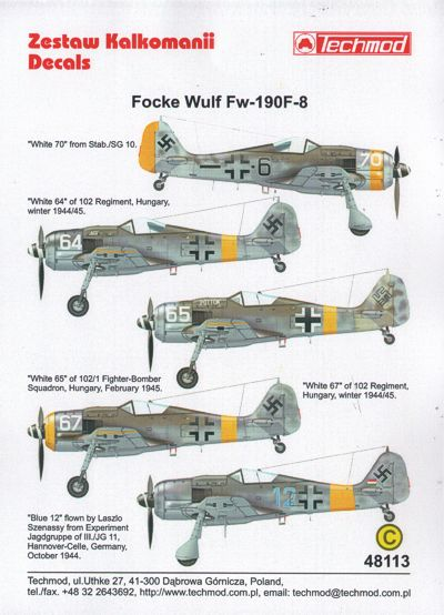 TM48113 Techmod 1/48 Focke-Wulf Fw-190F-8