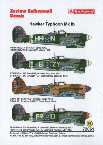 TM72061 Techmod 1/72 Hawker Typhoon Mk.Ib (4)