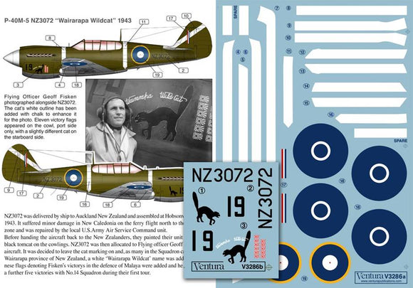"V3286 Ventura 1/32 Curtiss P-40M-5 NZ3072 ""Wairarapa Wildcat"