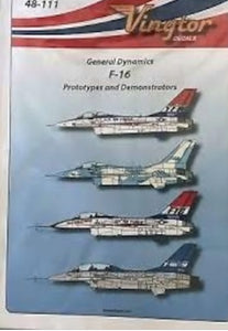 VTH48111 Vingtor 1/48 General Dynamics F-16 Prototypes & Demostrators