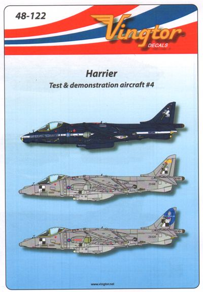 VTH48122 Vingtor 1/48 Harrier Test & Demostrator Aircraft #4