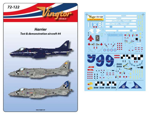 VTH72122 Vingtor 1/72 BAe Harrier - Test & demonstration aircraft #4