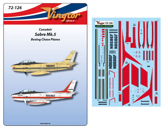 VTH72126 Vingtor 1/72 Canadair Sabre Mk.5 - Boeing Chase Planes