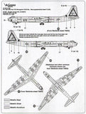 WB72032 Warbird Decals 1/72 Convair B-36 Peacemaker Part 3 Broken Arrow Ship 075, B-36J Pima AFB