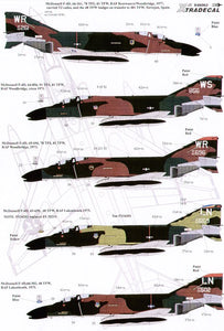 X48063 Xtradecal 1/48  USAFE McDonnell F-4D Phantom and McDonnell RF-4C Phantoms in England Part 2 (9)
