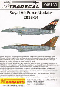 X48139 Xtradecal 1/48 Royal Air force Update 2012-14