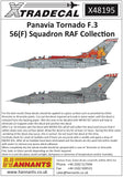 X48195 Xtradecal 1/48 panavaia tornado F.3 56 (F) squadron RAF Collection