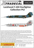 X48209 Xtradecal 1/48 Lockheed F-104 Starfighter Collection Pt2 (7)
