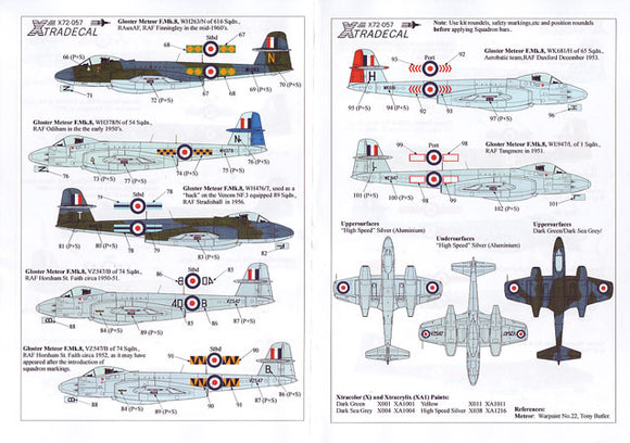 X72057 Xtradecal 1/72 Gloster Metor F Mk8