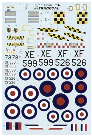 X72046 Xtradecal 1/72 Hawker Hunter F 6 12, 56, 74, 111 Squadrons