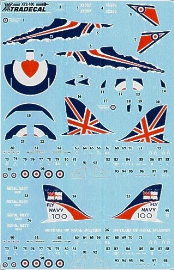 X72100 Xtradecal 1/72 BAE Hawk T.1 2009 Display Aircraft 208(r) Sq & RN 100 Years of Naval Aiation
