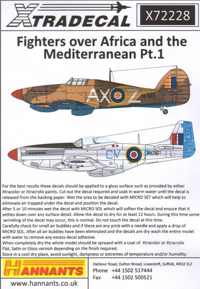 X72228 Xtradecal 1/72 Fighters Over Africa and the Mediterranean Pt.1 (11)