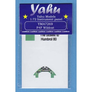 YMA7269 Yahu Models 1/72 Grumman F4F-4 Wildcat Photoetched instrument panels.(Airfix and Hobby Boss kits)