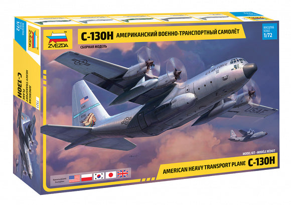 ZVE7321 Zvezda 1/72 Lockheed C-130H Hercules new mould in 2020. 5 versions included on decal sheet….