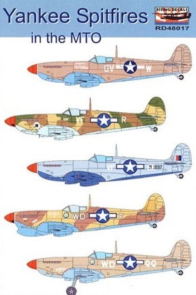 RD48017 Rising Decals 1/48 Yankee Spitfires in the MTO