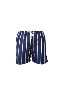 KIDS Navy/Stripe Swim Shorts