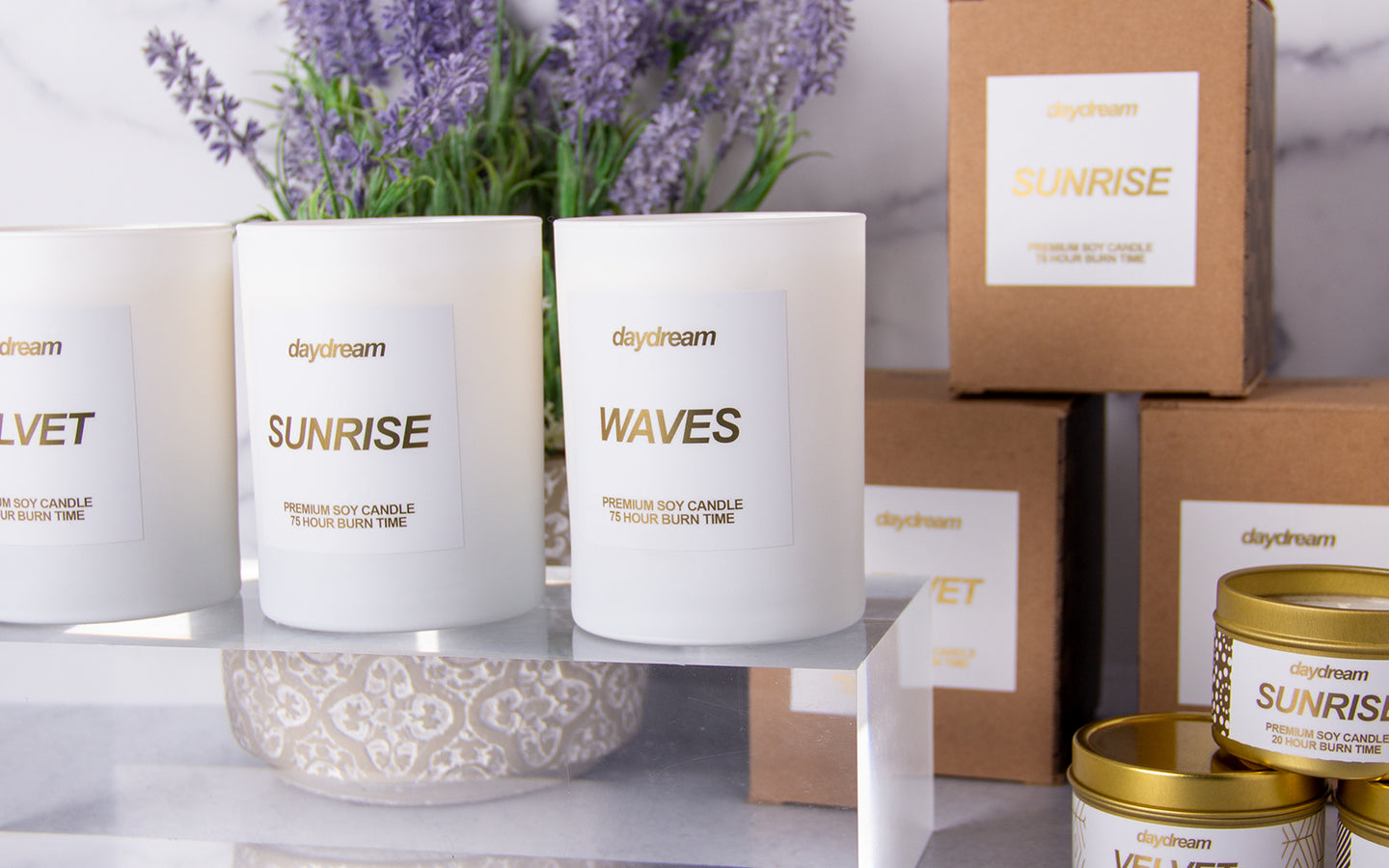 Premium soy candles that grow into flowers.