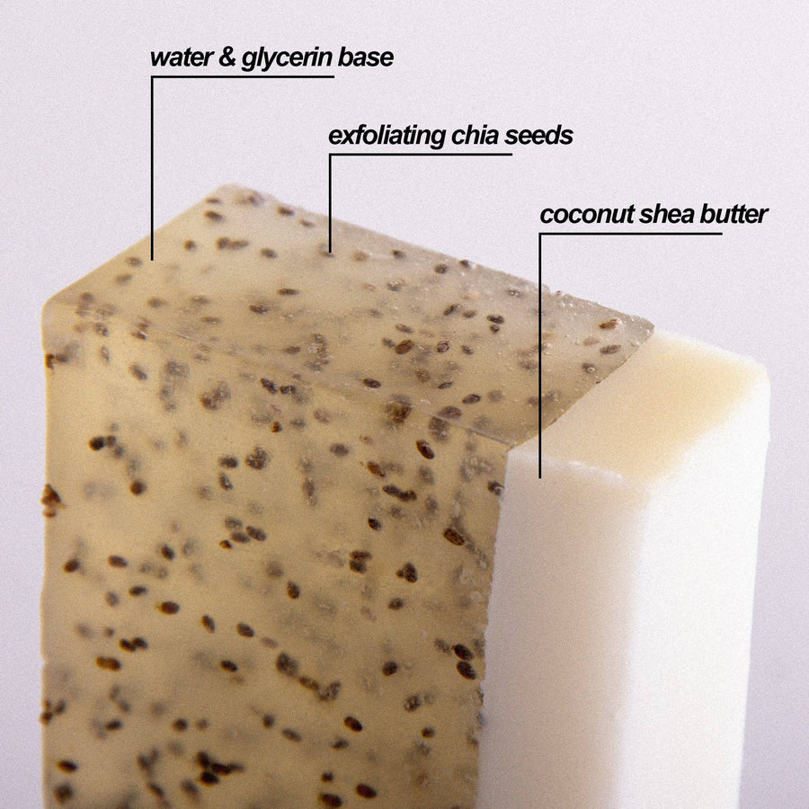 Island Agave Chia Wash | Bar Soap | Daydream Candle Company