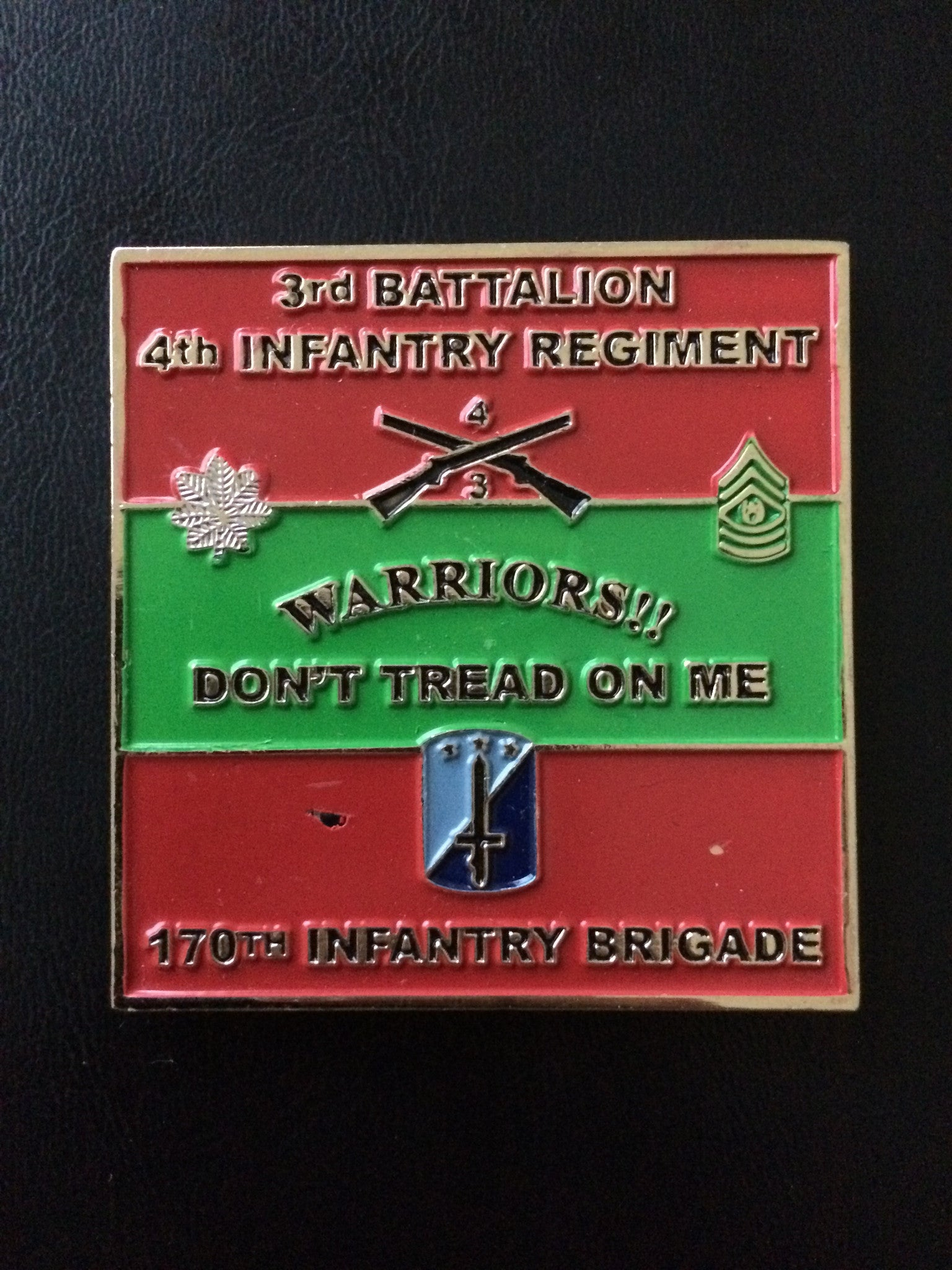 170th Infantry Brigade, 4th Infantry Regiment, 3rd Battalion Commander and CSM