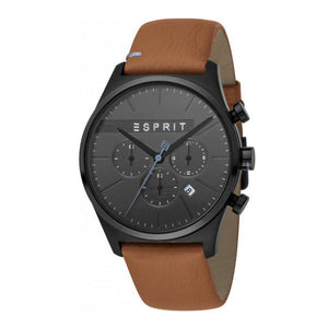 Esprit ES1G053L0035 Ease Chrono Black Brown Mens Watch Chronograph